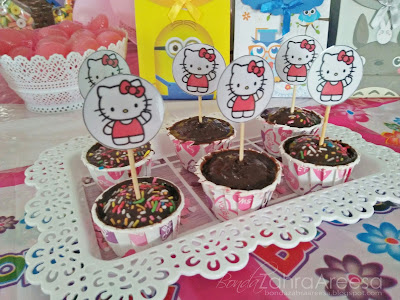 Sambutan burthday anak, candy booth