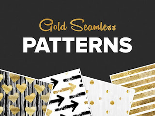 free seamless gold pattern set