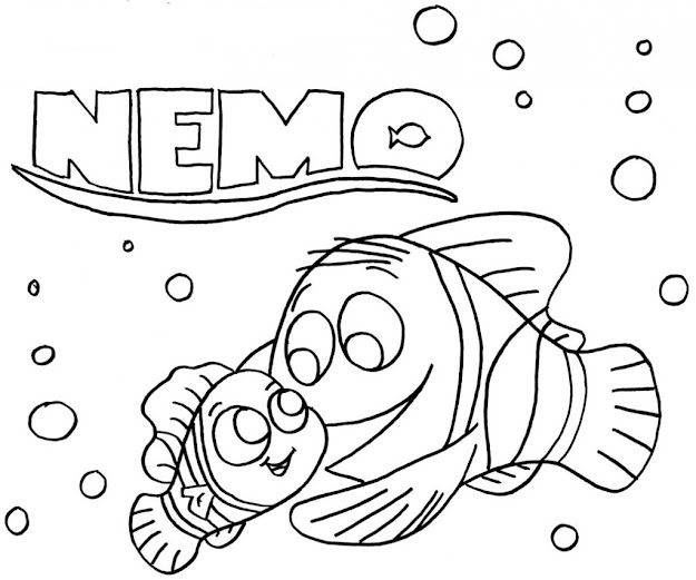 Nemo Coloring Pages  Finding Nemo Coloring Pages
