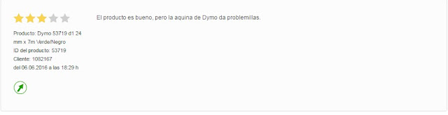 Opinion sobre Dymo 53719 (S0720990)