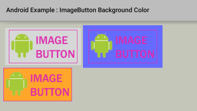 How To Change Imagebutton Background Color In Android