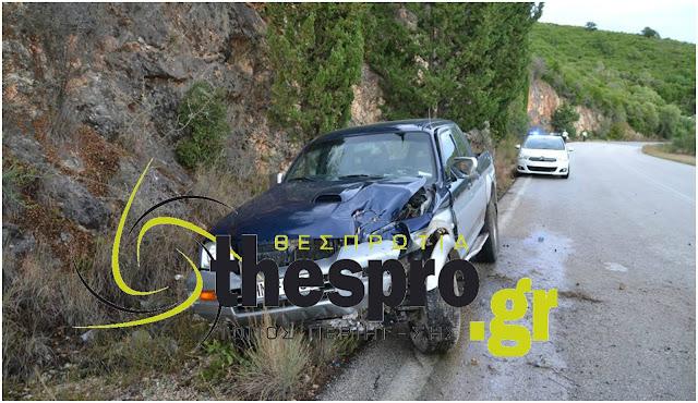 Τροχαίο ατύχημα πριν λίγο στην Ε.Ο. Ηγουμενίτσας - Πρέβεζας (+ΦΩΤΟ)