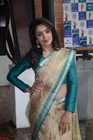 Tejaswi Madivada looks super cute in Saree at V care fund raising event COLORS ~  Exclusive 038.JPG