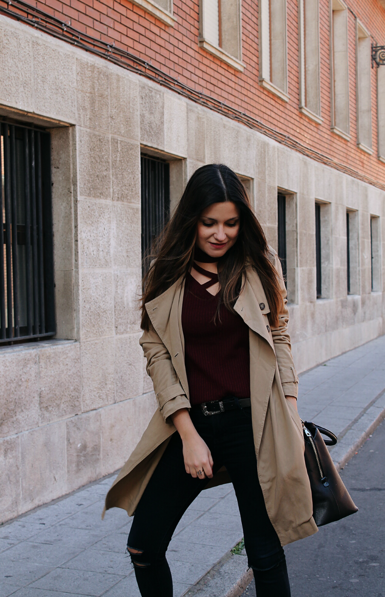 Outfit con trench blog