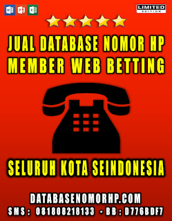 Jual Database Member Web Betting Aktif Seindonesia