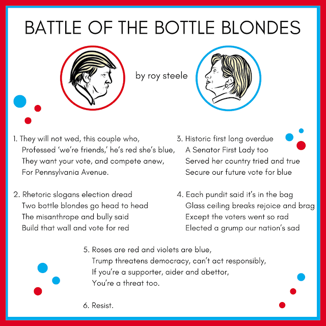 Visual representation of BATTLE OF THE BOTTLE BLONDES by roy steele optimized for Instagram.