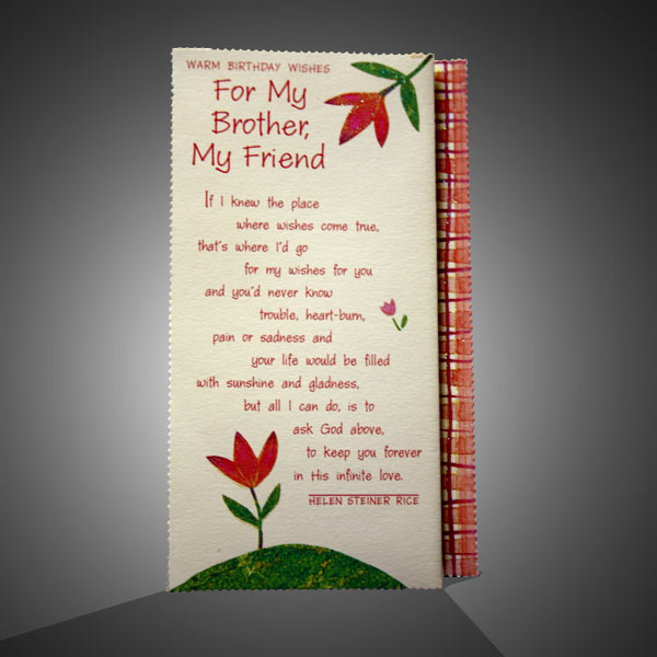 Birthday Greetings Card For Brother