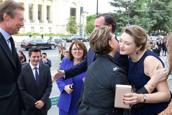 Maria Teresa, Hereditary Grand Duke Guillaume, Hereditary Grand Duchess Stephanie and Prince Louis, Princess Stephanie
