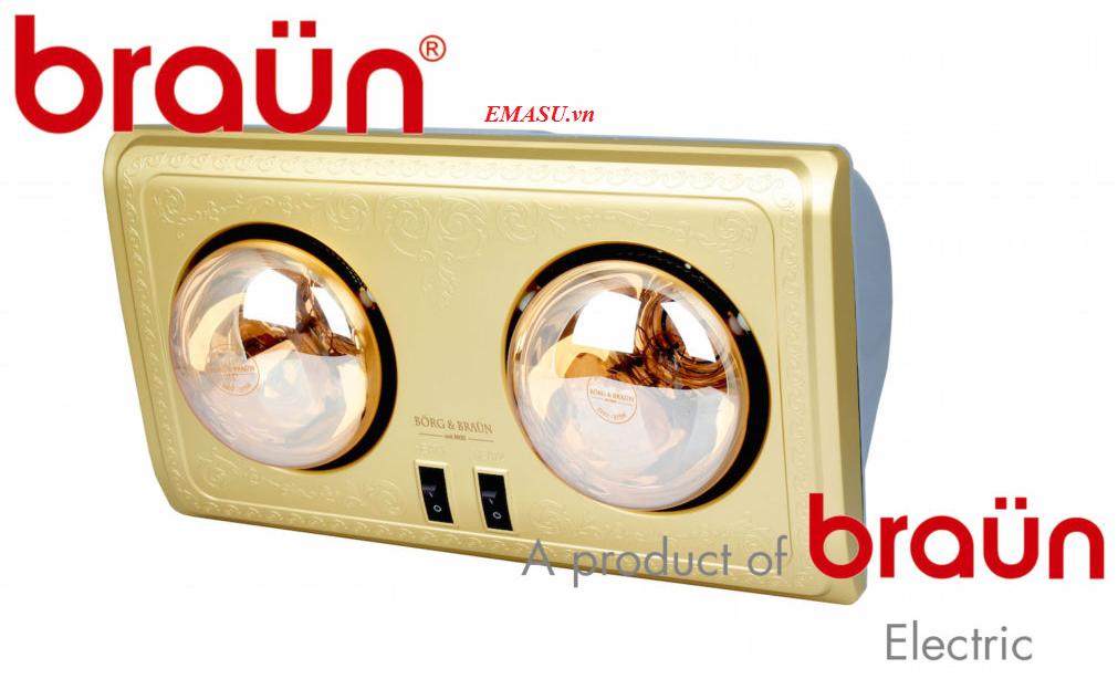 Nơi bán đèn sưởi nhà tắm Braun BU02, BU03, BU16 giá rẻ nhất