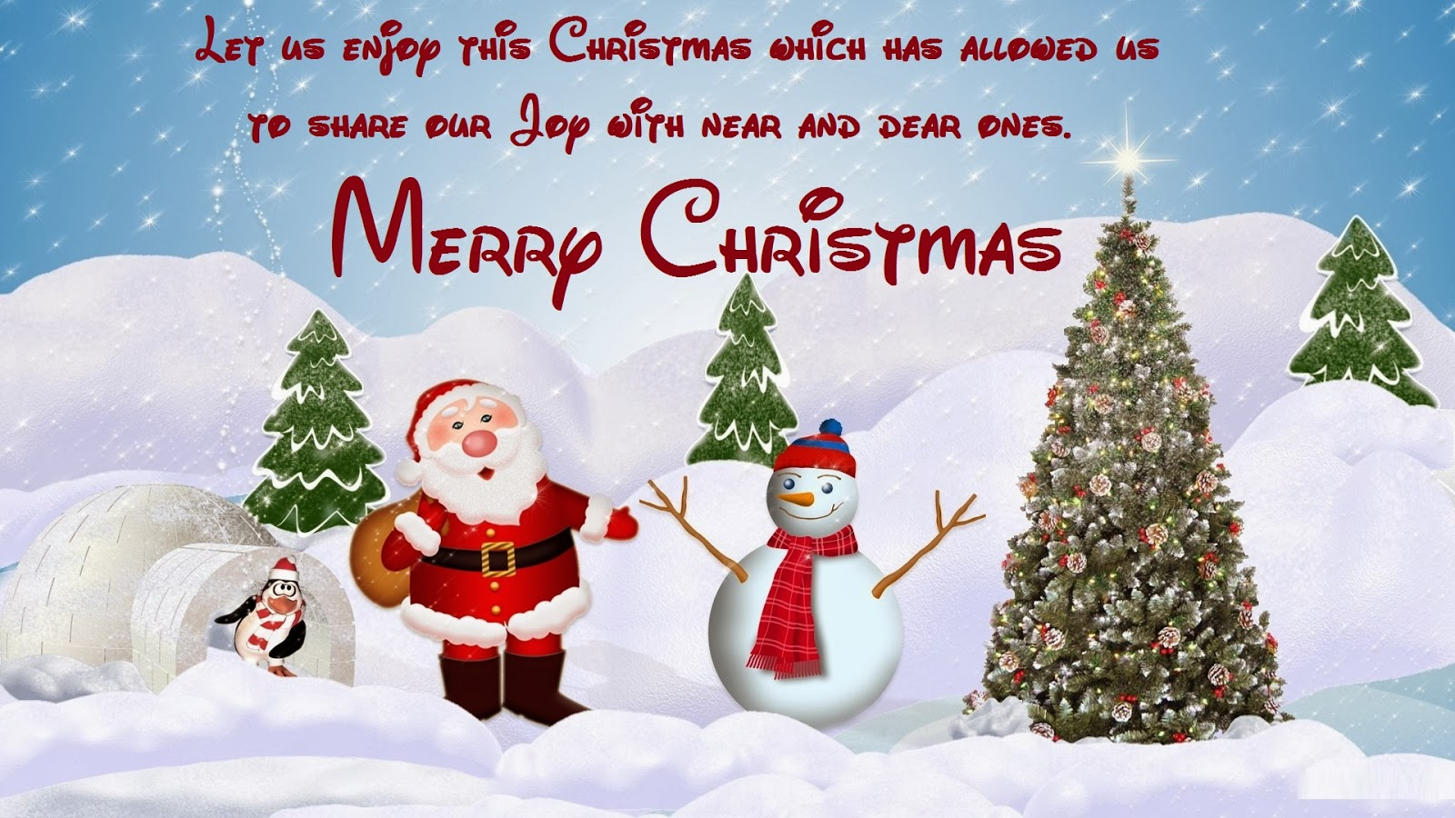 Merry Christmas SMS, Xmas Images with Messages