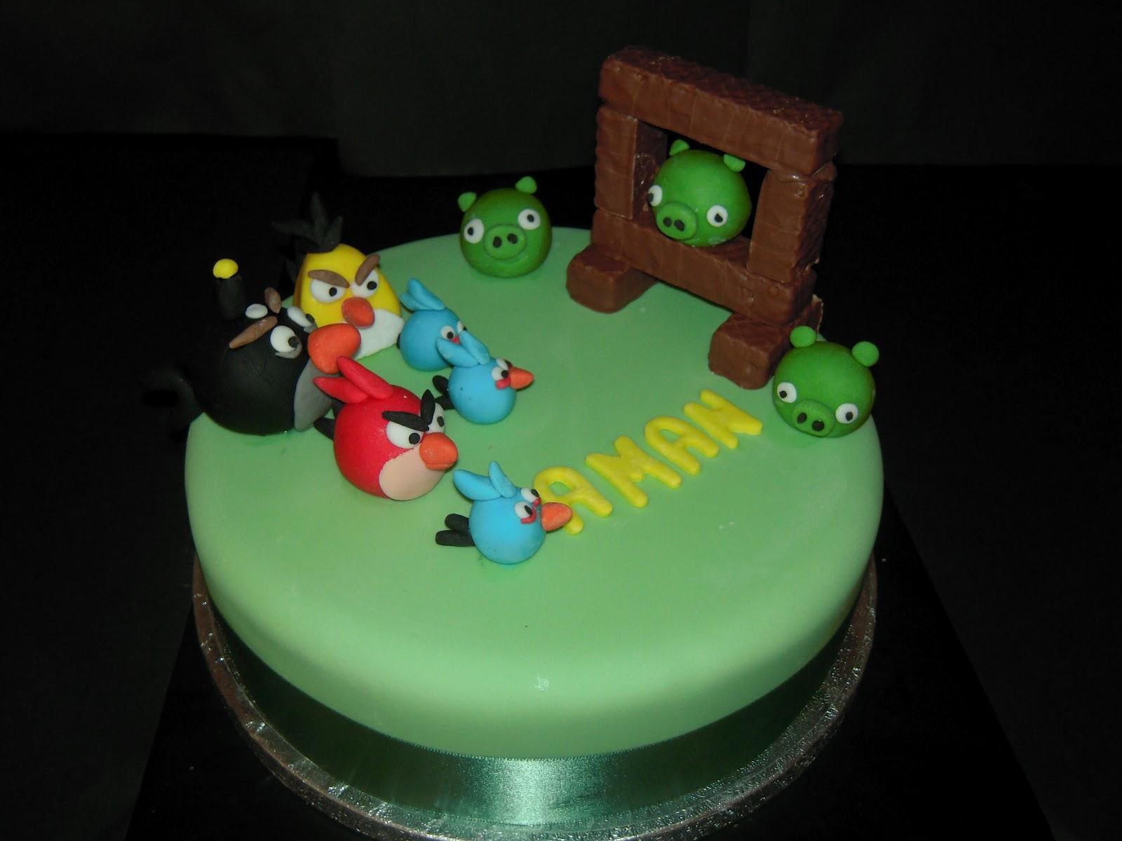 Eileen Atkinson S Celebration Cakes Angry Birds Birthday Cake