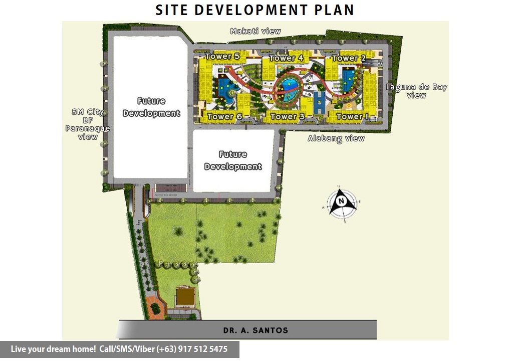 Site Development Plan | SMDC Bloom Residences - 2 Bedroom End Unit With Balcony | Condominium for Sale Sucat Paranaque