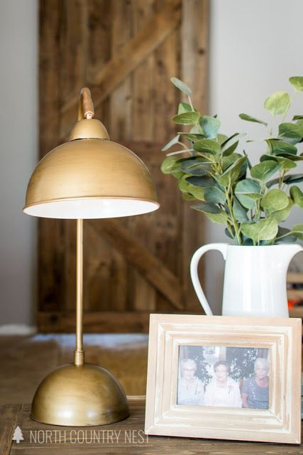 Antique Brass Table Lamp Makeover