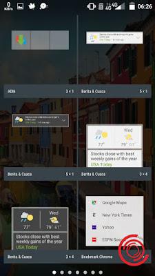 Nantinya akan muncul beberapa widget bawaan dan widget aplikasi. Silakan kalian geser-geser atau cara widget WhatsApp (WA)
