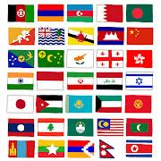 アジアの国旗のイラスト