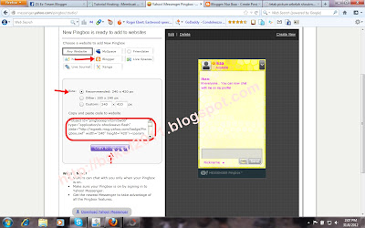 Pasang yahoo messenger pingbox