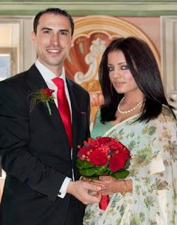 Celina Jaitley dan Peter Haag