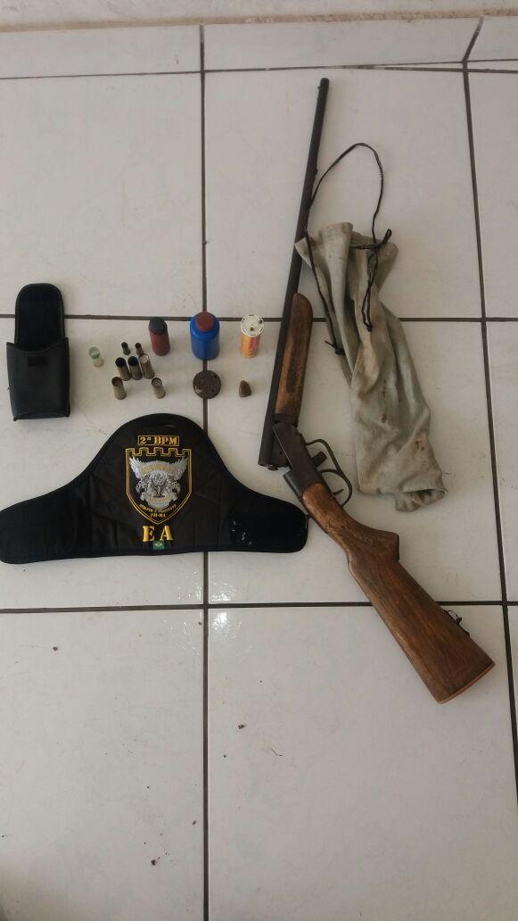 CAXIAS: Esquadrão Águia faz apreensão de arma de fogo na Fazendinha