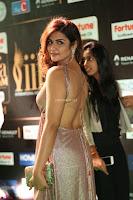 Telugu Actress Aarthi in Deep Neck Backless Golden Gown at IIFA Utsavam Awards 2017 Exclusive 09.JPG