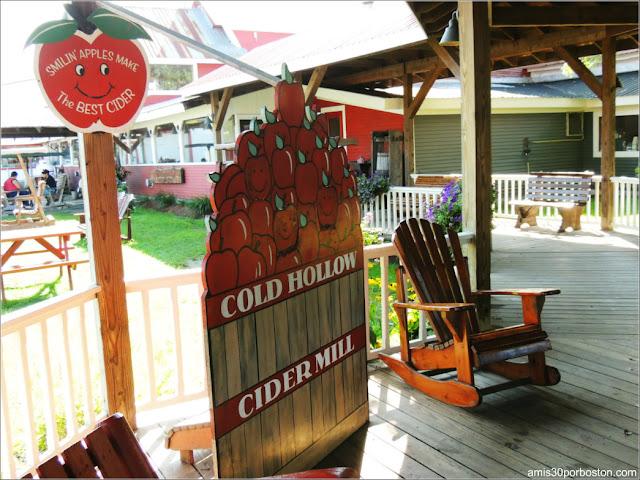 Exteriores de la Fábrica Cold Hollow Cider Mill en Vermont