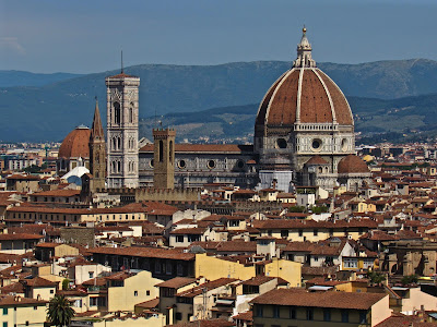 View of the Duomo from Piazzale Michelangelo in Florence