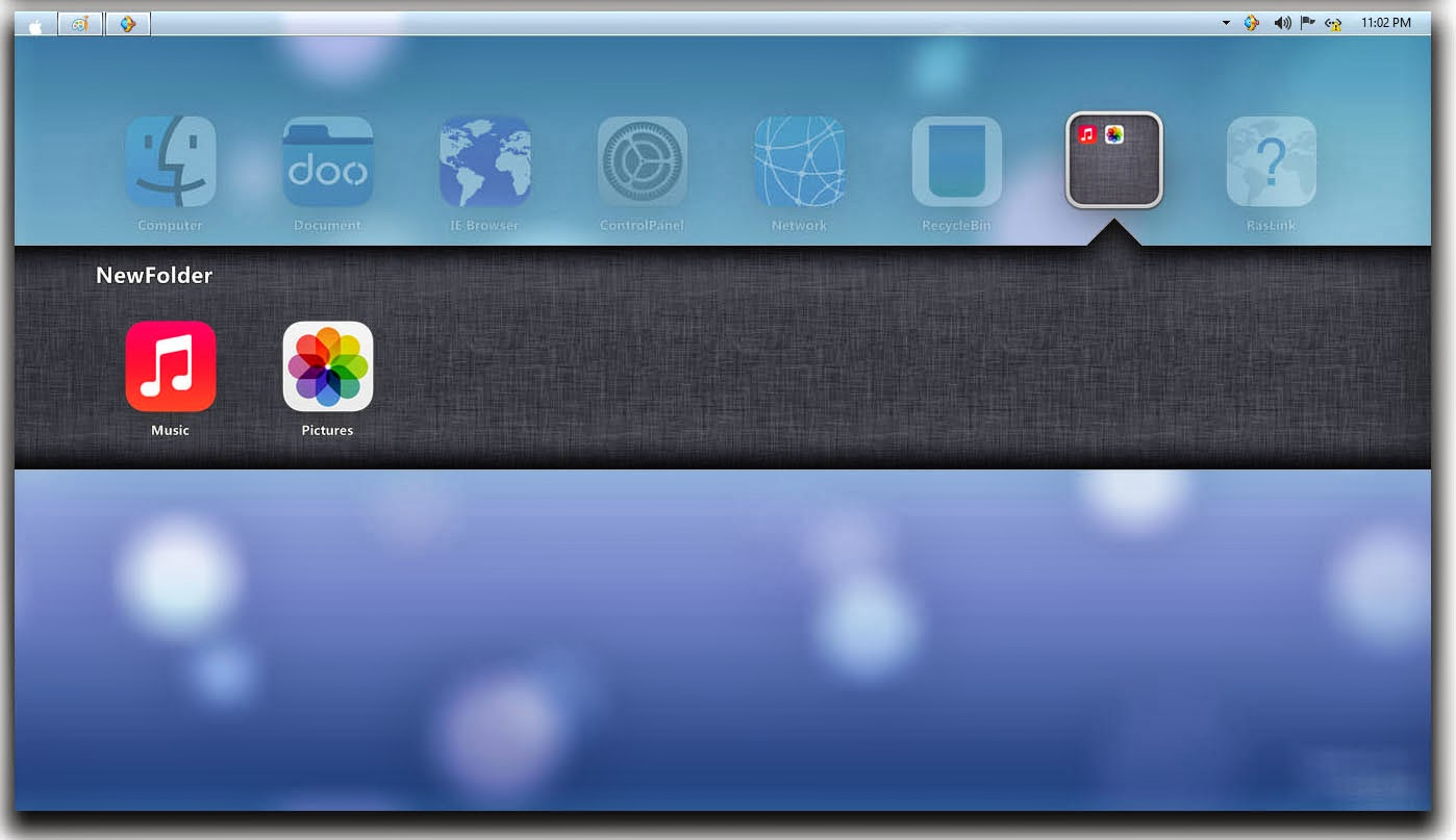 iOS7 Skin Pack for windows 7 and 8