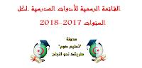 القائمة الرسمية للأدوات المدرسية لكل السنوات 2017-2018