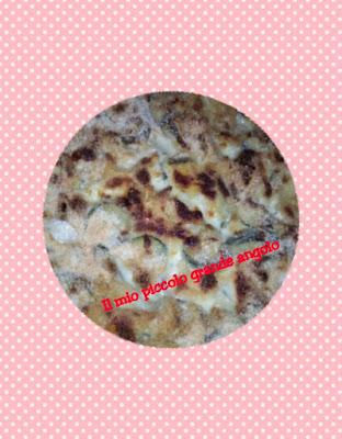 Pasta al forno bianca, zucchine e scamorza affumicata