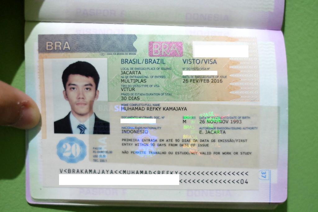 Pengalaman Mengurus Visa Brazil di Jakarta - Visa Brazil