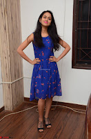 Pallavi Dora Actress in Sleeveless Blue Short dress at Prema Entha Madhuram Priyuraalu Antha Katinam teaser launch 039.jpg