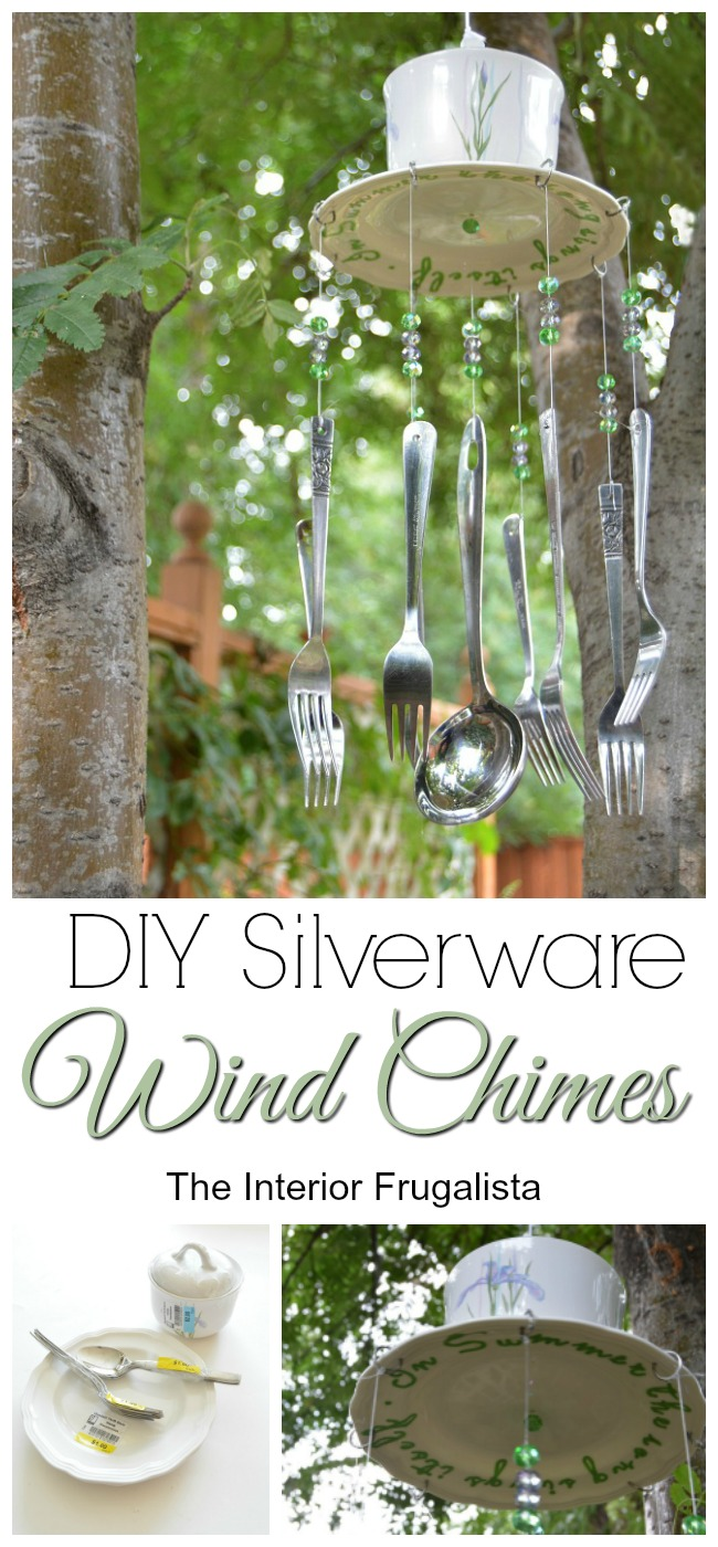 How To Make Silverware Wind Chimes from thrift store finds