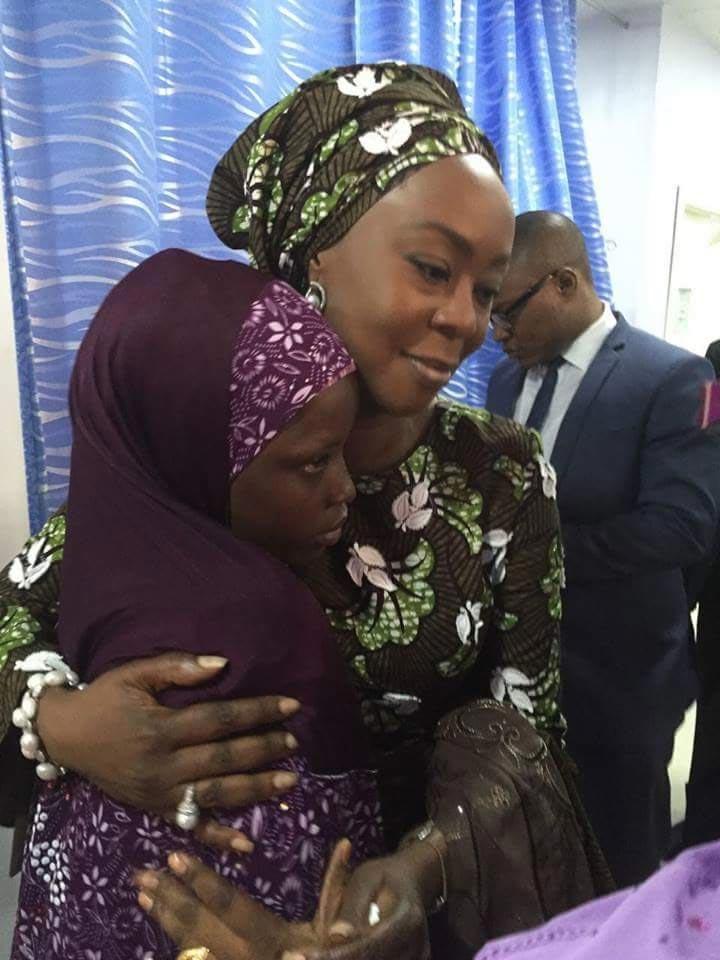 Toyin Saraki and Zahra Buhari meet 2-year-old boy castrated by wicked stepmum
