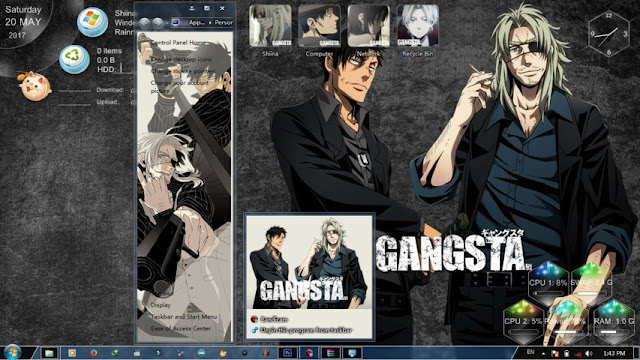 Gangsta Theme Win 7 by Bashkara
