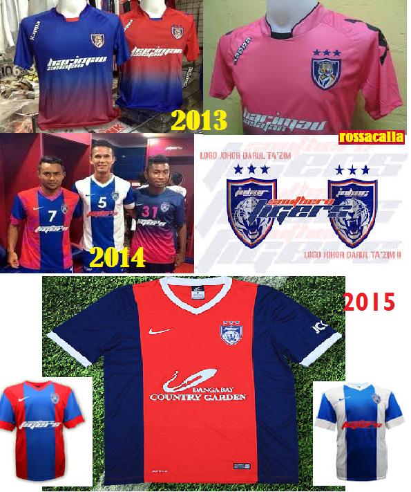 jersi jdt 2013 - 2015