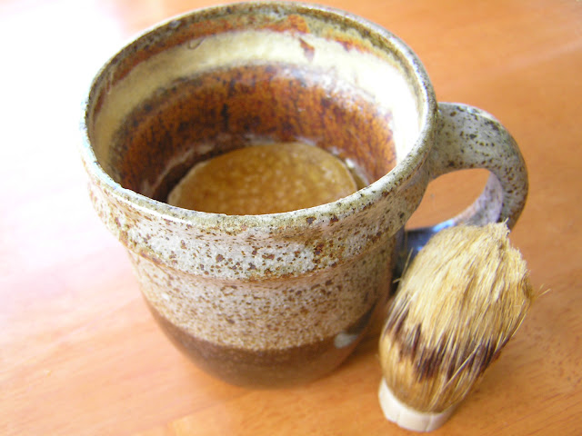 shaving soap and brush
