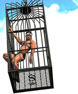 bailarín de discoteca en una jaula