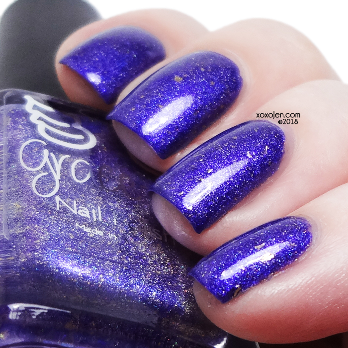 xoxoJen's swatch of Grace-full Nail Polish Ner, Ner, Ner Batgirl