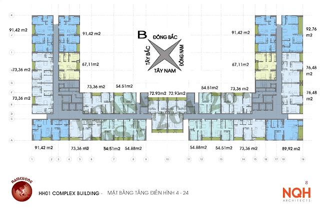 Tổng thể mặt bằng dự án chung cư Anland.
