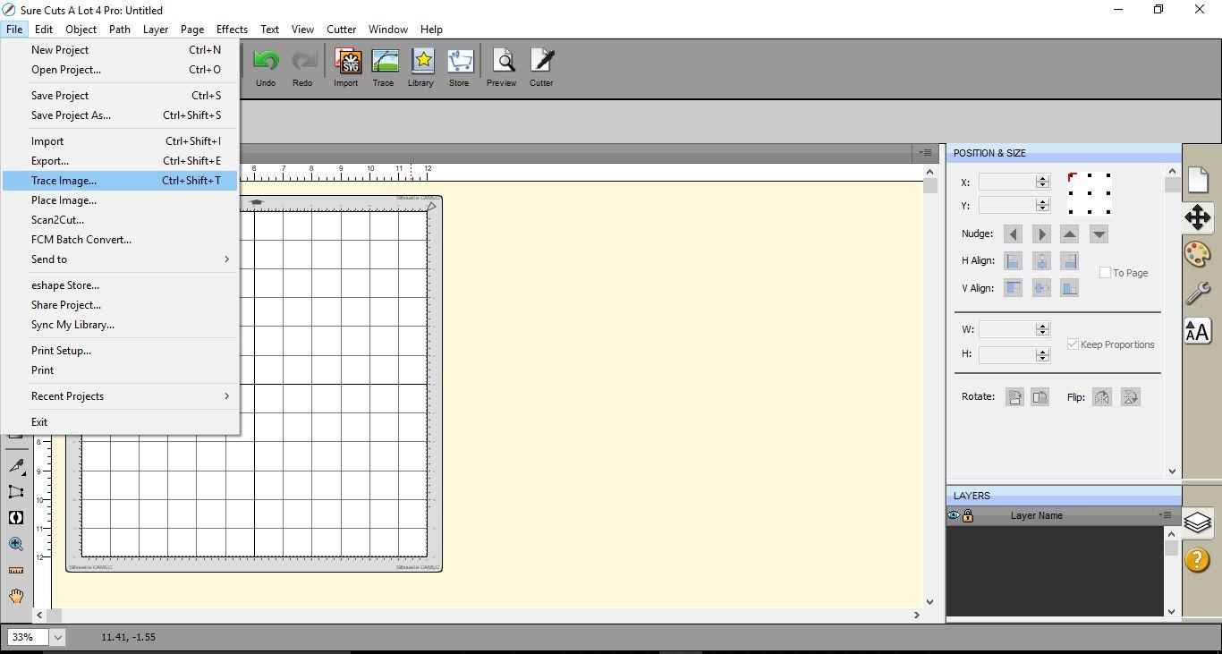 Sure Cuts A Lot 4 Basics - Tracing a colored image | Design