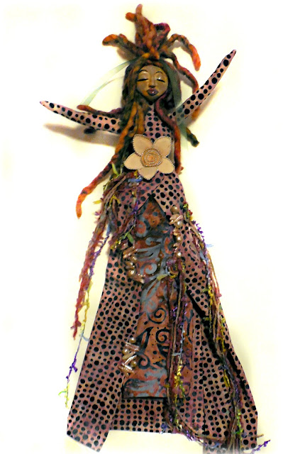 Pearls and Power - a Cloth and Clay Spirit Doll for Women's Empowerment