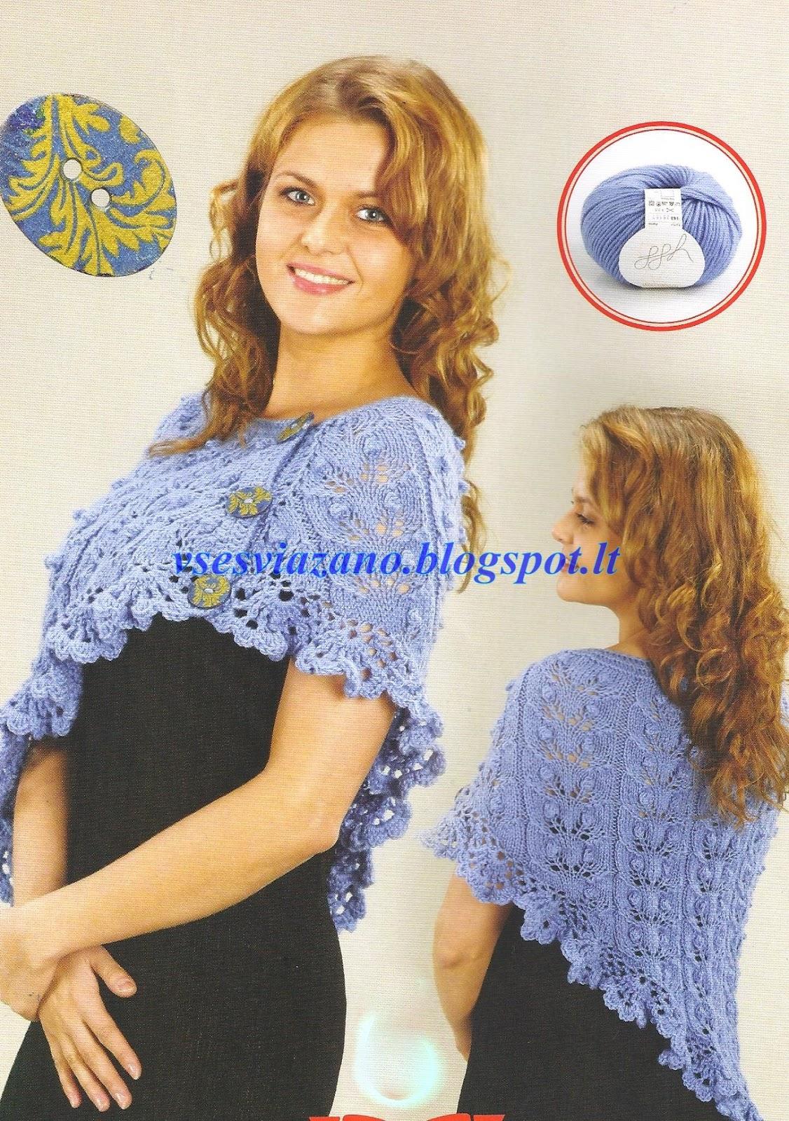 кружевной воротничок крючком схема www.knit-club.ru