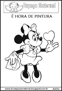Desenho Minnie para colorir