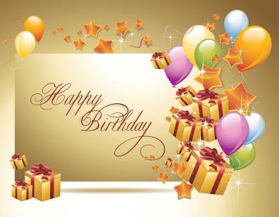 Tarjeta de felicitación de cumpleaños en vector