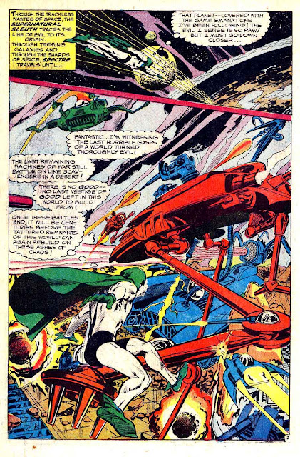 Spectre v1 #4 dc 1960s silver age comic book page art by Neal Adams