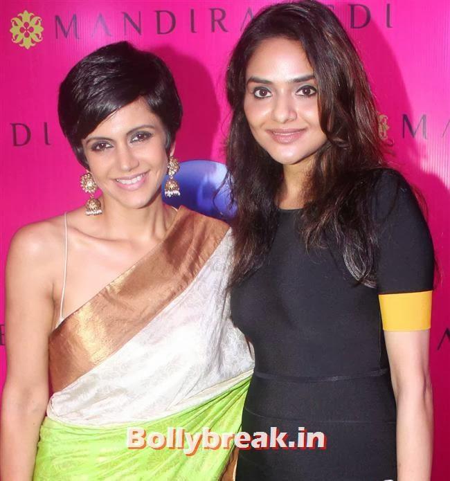 Mandira Bedi and Madhoo, Mandira Bedi Sari Store Launch Photos