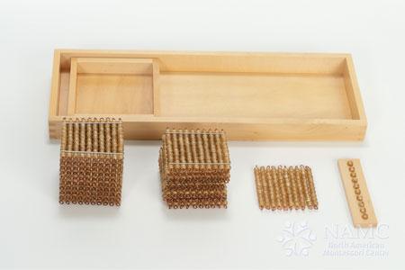 Favorite NAMC Montessori Material Preschool Kindergarten math Golden Bead