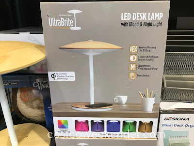 Costco 1320991 - UltraBrite Dome LED Desk Lamp with Wireless Charging Pad is convenient and practical