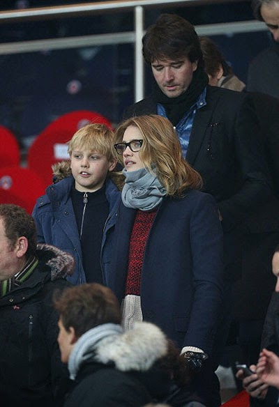 Natalia Vodianova with her son Lucas and Antoine Arnault
