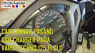 Cara Benar Pasang USB Charger pada Honda Vario Techno 125 FI Old