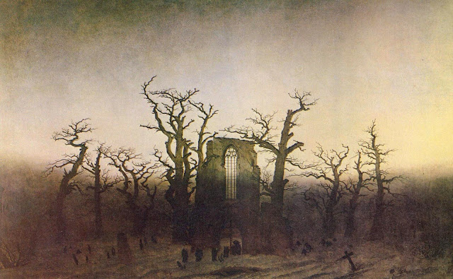 Caspar David Friedrich – The Abbey In The Oakwood [Abtei im Eichwald, 1809-10]